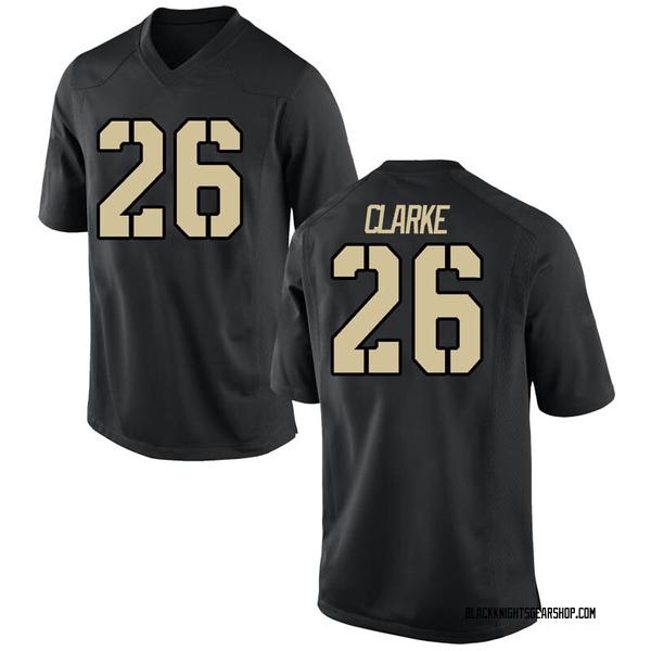 Men's Cameron Clarke Army Black Knights Nike Replica Black Football College Jersey