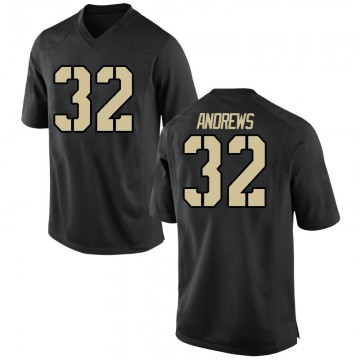 Men's Jonathan Andrews Army Black Knights Nike Game Black Football College Jersey