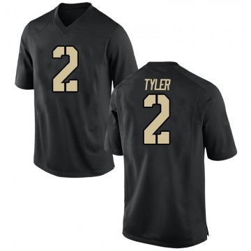 Men's Tyhier Tyler Army Black Knights Nike Game Black Football College Jersey