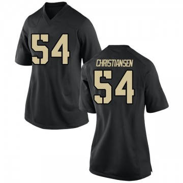 Women's Cole Christiansen Army Black Knights Nike Replica Black Football College Jersey