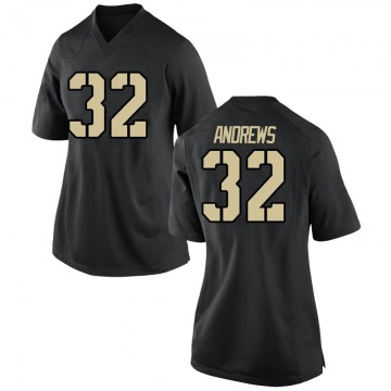 Women's Jonathan Andrews Army Black Knights Nike Game Black Football College Jersey