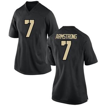 Women's Matthew Armstrong Army Black Knights Nike Replica Black Football College Jersey